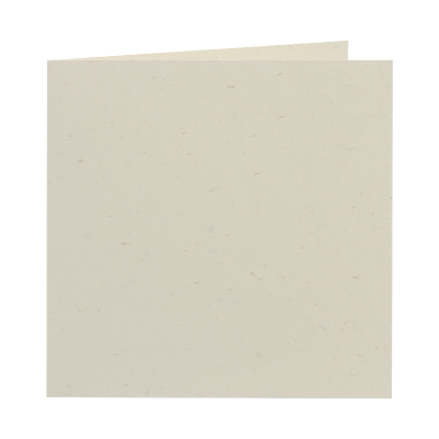 Vierkante ecru kaart met glinstereffect (313.245)