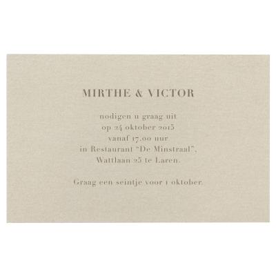 Ivoorkleurig uitnodigings- of bedankingskaartje (362.051)