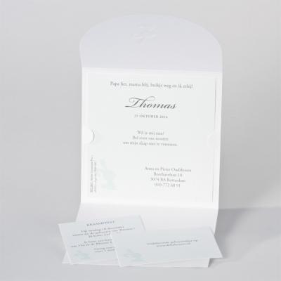 Lief geboortekaartje met konijn - mintgroen (505.061)