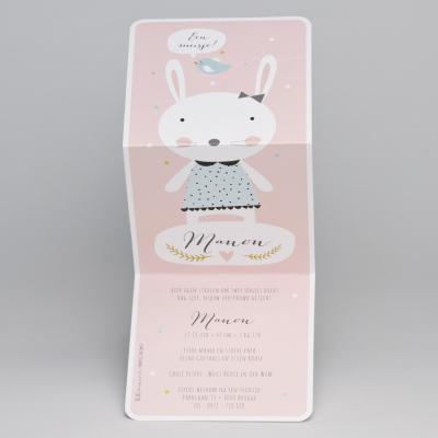 Drieluik konijntje met muntgroen kleedje (507.063)