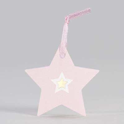 Roze ster met goudfolie (556.011)