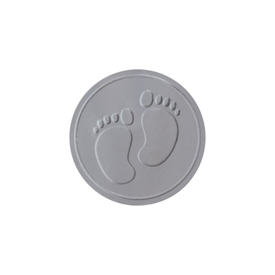Sluitzegel voetjes zilverfolie (573.107)