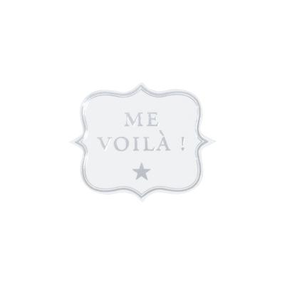 """Sluitzegel """"Me Voilà"""" zilverfolie (573.112)"""