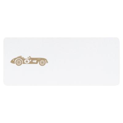 Adresetiket bruine raceauto (573.205)