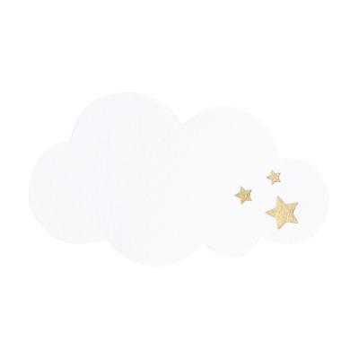 Personaliseerbare witte sluitzegel met sterren in goudfolie (576.103)