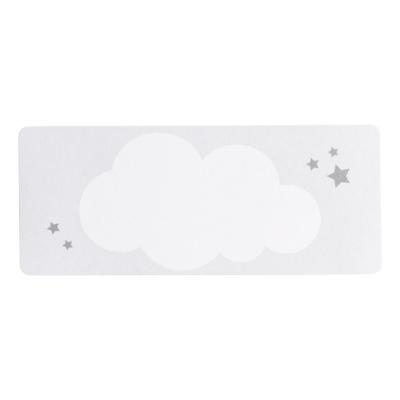 Adresetiket met witte wolk en zilveren sterren (576.202)