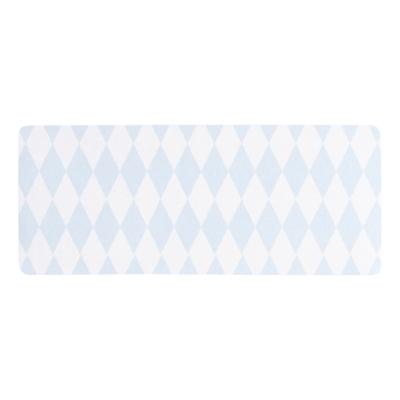 Adresetiket met blauw ruitpatroon (576.205)
