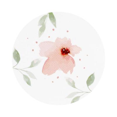 Sluitzegel met aquarelbloemen (579.104)