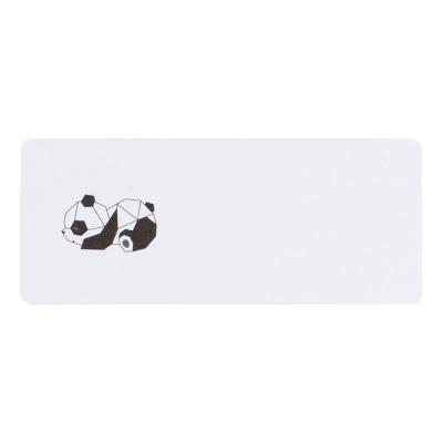 Adresetiket met geometrische panda (579.296)