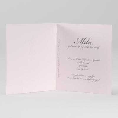 Retro meisjeskaart met roze barokmotief (584.092)