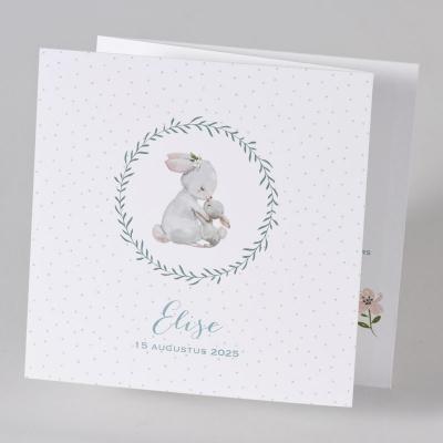 Drieluik pop-up met schattige konijntjes  (589.042)