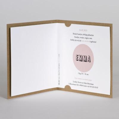 Geboortekaart in eco met houten motiefje naar keuze (589.100)