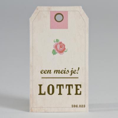 Label met roosje (596.023)