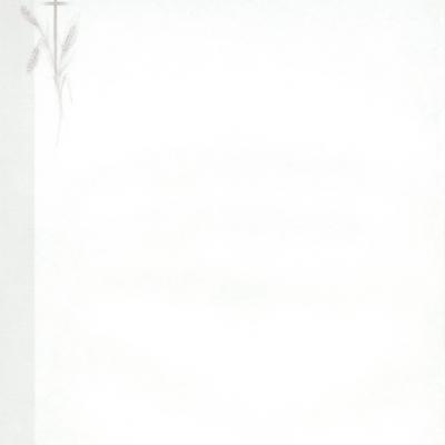 Enkele rouwbrief met korenaar en kruis (620.003)