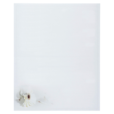 Enkele rouwbrief met witte gerbera (620.095)