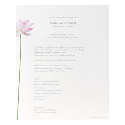 Enkele brief met lotusbloem (620.138)