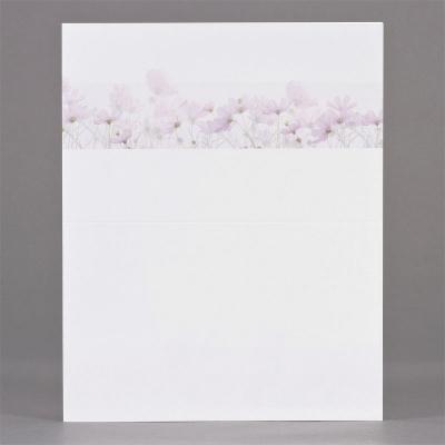 Dubbele rouwbrief met paarse bloemen (631.164)