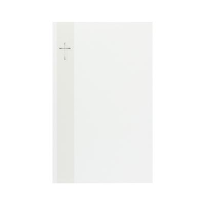 Dubbele rouwkaart met foliekruis in band in coupon van 2 (640.080)