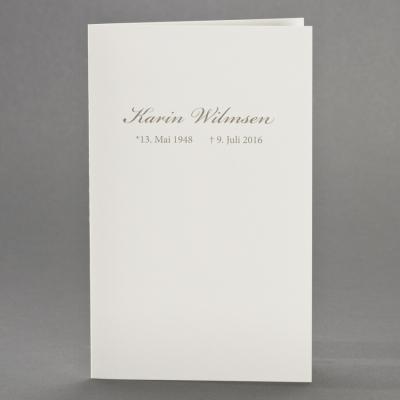 Dubbele rouwkaart blanco crème (642.004)