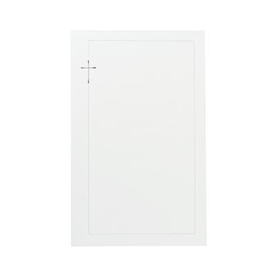 Dubbele rouwkaart met grijs kader en kruis in zilverfolie (642.040)