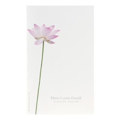 Dubbele rouwkaart met lotusbloem (642.138)