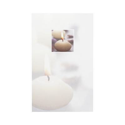 Dubbele rouwkaart met kaars in vlak in coupon van 2 (642.208)