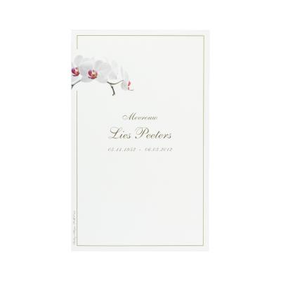 Dubbele rouwkaart met orchidee in coupon van 2 (642.211)