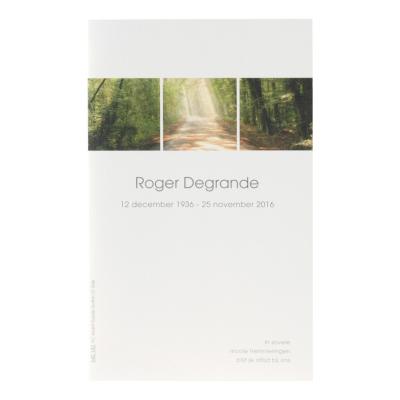 Dubbele rouwkaart met bospad in coupon per 2 (642.242)