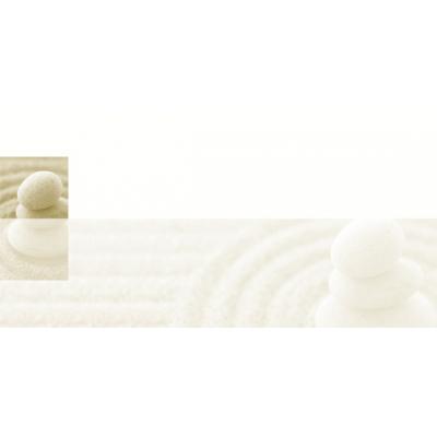Rechthoekige rouwkaart met zandstenen op elkaar (642.910)