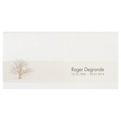 Dubbele rouwkaart met sombere boom (642.921)