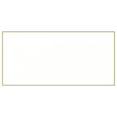 Rechthoekige rouwkaart met dubbele bruine rand in coupon van 2 (643.902)