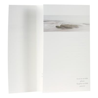 Rouwkaart drieluik rots in water  (648.139)