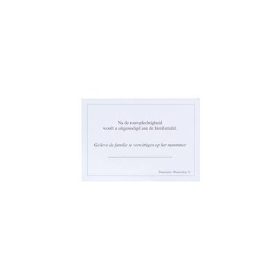 Maaltijdkaartje wit met grijs kader (649.017)