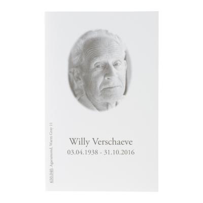 Rechthoekig blanco wit rouwprentje (650.040)