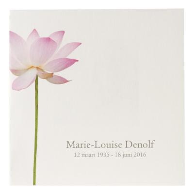 Vierkant rouwprentje met lotusbloem (650.138)