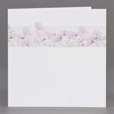 Vierkant rouwprentje met paarse bloemen - per 3 (651.164)