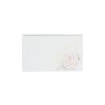 Dankkaart / deelnemingskaart met roze roos (670.054)