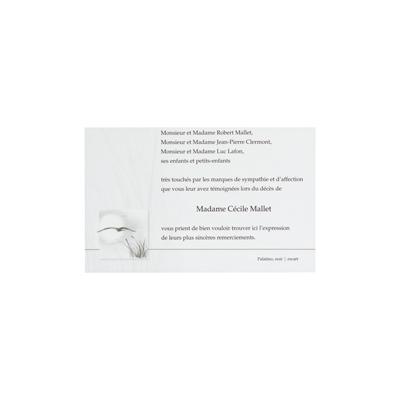 Dankkaart / deelnemingskaart met vogel en gras (670.070)