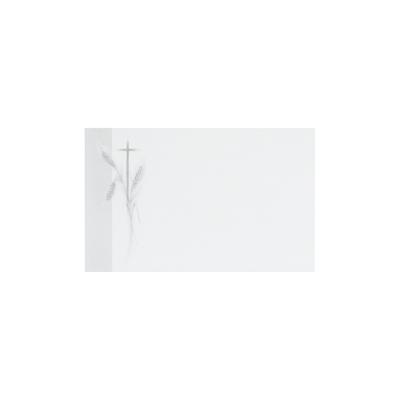 Dankkaart / deelnemingskaart met korenaar en kruis (670.093)