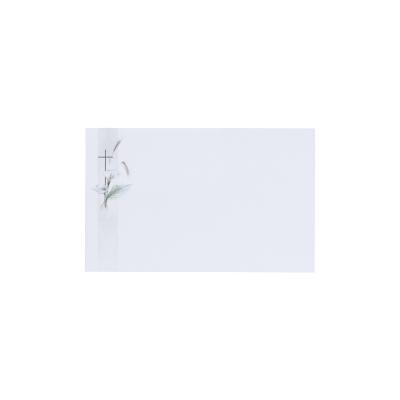 Dankkaart / deelnemingskaart met aronskelk en kruis in coupon van 2 (671.033)