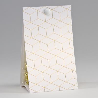 Snoepzakwikkel met geometrisch patroon in goudfolie (747.139)