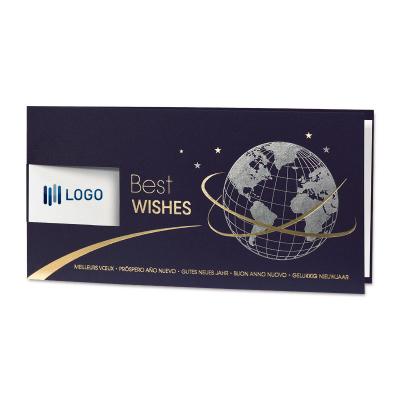 Internationale nieuwjaarskaart met zilveren wereldbol (848.028)