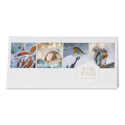 Sfeervolle kerstkaart met winterbeelden (848.051)