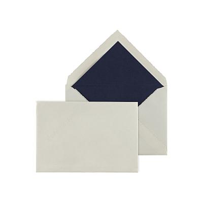 Cremefarbige Hülle mit blauem Futter (093.061)