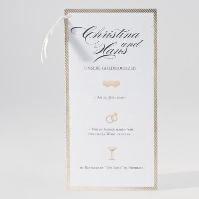 Originelle zweiteilige Jubiläumkarte mit Goldfolienprägung (106.050JUB)
