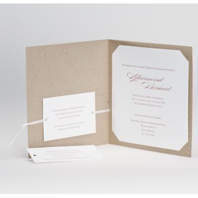 Trendy Hochzeitskarte aus ökologischem Papier mit Folienherz (106.112)