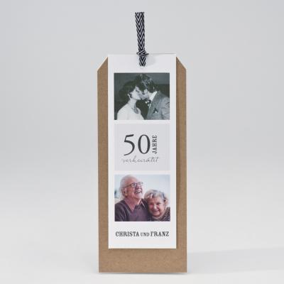 Dreiteilige Jubiläumskarte mit Fotos (106.307)