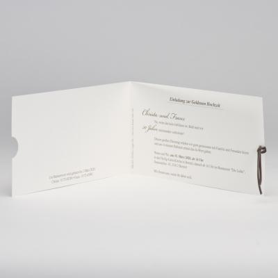 Trendy Einladungskarte mit braunem Passepartout (106.315)
