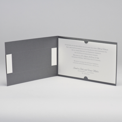 Anthrazitfarbige Jubiläumskarte mit 3 verschiedenen Einsteckkarten (106.318)