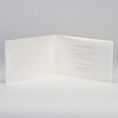 Elfenbeinweiße Jubiläumskarte mit 3 verschiedenen Einsteckkarten (106.319)